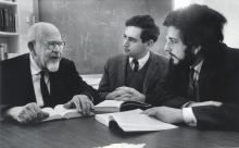 Rabbi Mordecai Kaplan with two students